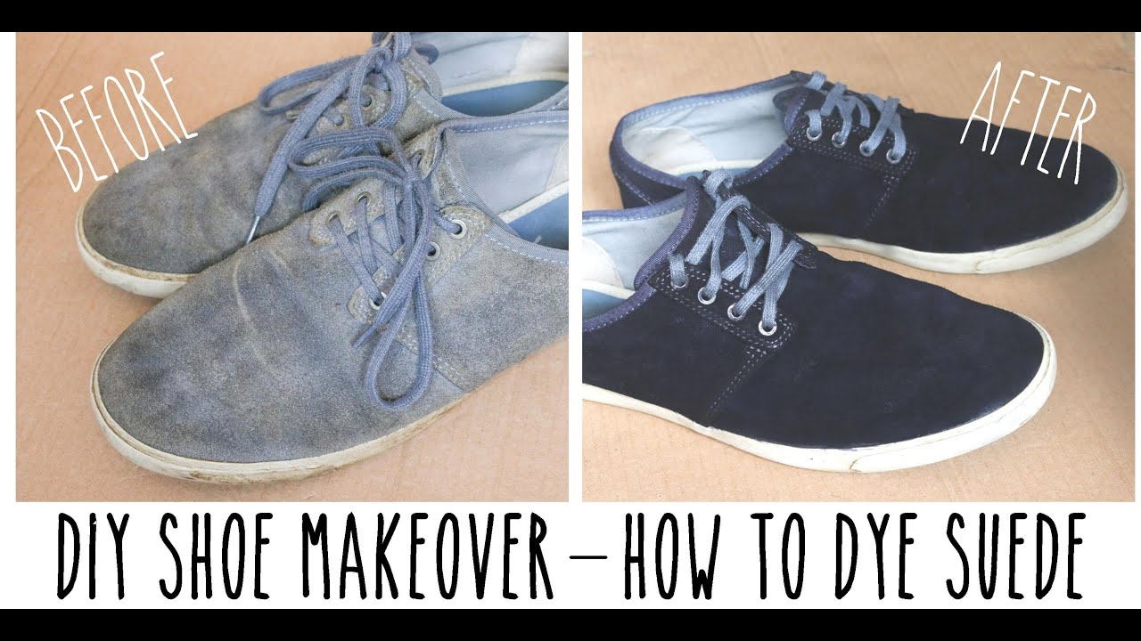 Dyeing Suede Shoes Grey to Black