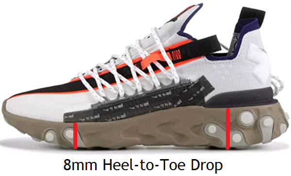 Heel-to-toe drop