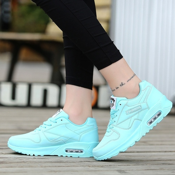 Runners Casual Shoes Women Breathable Mesh Cushion Flat Sneakers
