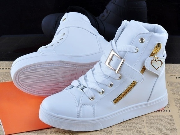 Spring Fashion High-top Solid Color Zip Lovers Sneakers Cotton Shoes Flat Canvas Men Shoes