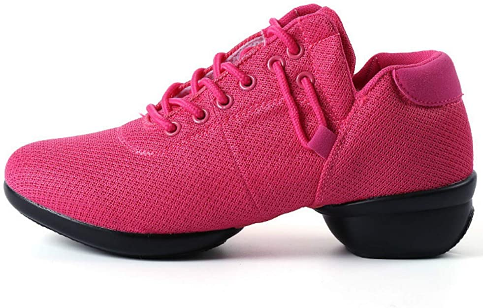 Women's Mesh Jazz Shoes Lady Girls Modern Split Sole Dance Sneakers